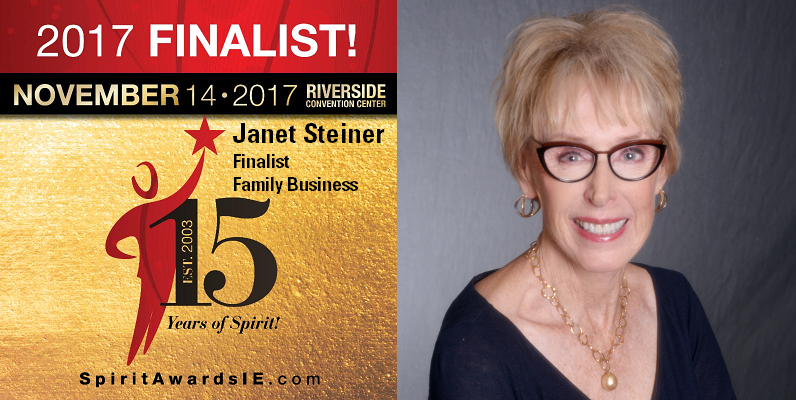 Janet Steiner - 2017 Spirit of the Entrepreneut Finalist - Family Business Category